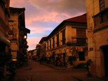 Sunset, Vigan, the Philippines Royalty Free Stock Photo