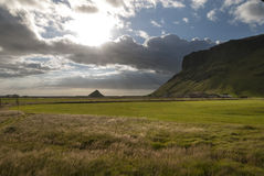 Sunset in Vik in Iceland Royalty Free Stock Photo