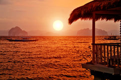 Sunset Villa Royalty Free Stock Images