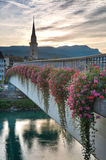 Sunset in Villach, Kärnten, Austria Stock Images