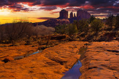 Sunset Vista of Sedona, Arizona Stock Photography