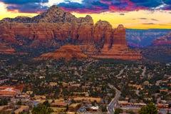 Sunset Vista of Sedona, Arizona Royalty Free Stock Image