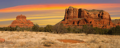 Sunset Vista of Sedona, Arizona Stock Photos