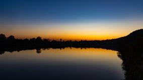 Sunset on the Vistula Royalty Free Stock Images