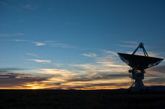 Sunset at VLA New Mexico Royalty Free Stock Images