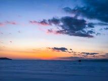 Sunset. Vladivostok. beautiful time with good weather Stock Photo