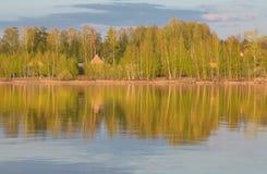 Sunset on the Volga Stock Photo