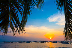 Sunset in Vung Tau, Vietnam Royalty Free Stock Photography