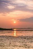 Sunset on the Wadden Sea Stock Images