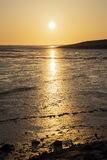 Sunset Wadden Sea Stock Images