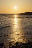 Sunset Wadden Sea Stock Images