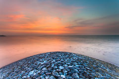 Sunset Waddensea Royalty Free Stock Photography