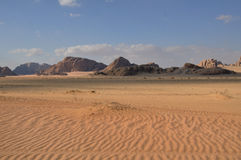 Sunset in Wadi Rum Royalty Free Stock Images