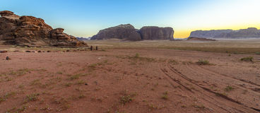 Sunset in Wadi Rum desert, Jordan Stock Photos