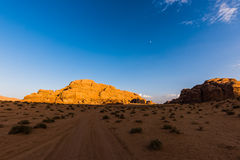 Sunset in Wadi Rum, Jordan Royalty Free Stock Image