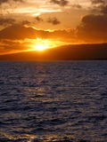 Sunset at Waikiki Beach Stock Photos