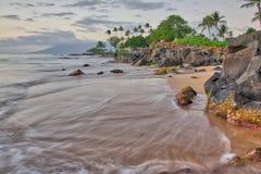 Sunset at Wailea Beach Royalty Free Stock Photos