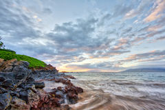 Sunset at Wailea Beach Royalty Free Stock Images
