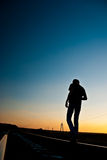 Sunset walk Royalty Free Stock Photography