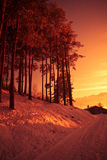 Sunset walking in the Alps Stock Image