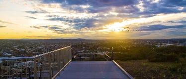Sunset Walkway royalty free stock photography