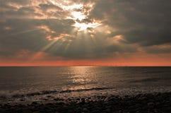 Sunset from Walney Island Cumbria UK. royalty free stock image