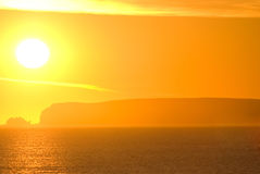 sunset warm Στοκ εικόνες με δικαίωμα ελεύθερης χρήσης