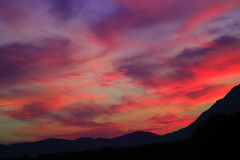 Sunset. A warm sunset at the end of the summer in southern Italy Royalty Free Stock Image