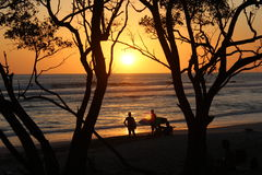 Sunset. On a warm sunny day in costa rica Stock Photo