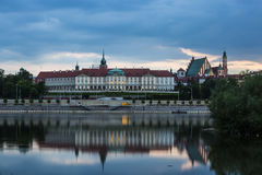 Before sunset, Warsaw - Polland. The Royal Palace in Warsaw, Poland Stock Photography