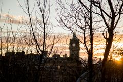 Silhouette of the Edinburgh Royalty Free Stock Images