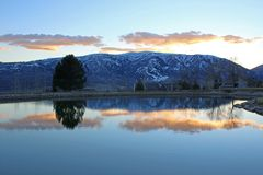 Sunset in the Wasatch Front Stock Image