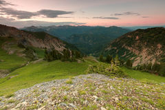 Sunset in the Wasatch Mountains. Sunset at Mount Timpanogos, Utah, USA Royalty Free Stock Image