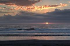 Sunset on the Washington Coast Stock Image
