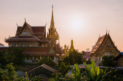 Sunset at Wat Lat Phrao Stock Photo