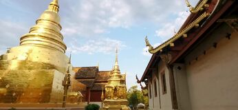 Sunset at wat phasing temple in chiang mai Thailand