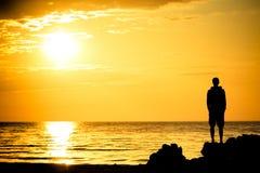Free Sunset Watcher Royalty Free Stock Photo - 11470615