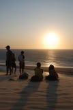Sunset watchers Royalty Free Stock Photos