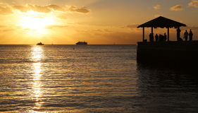 Sunset watchers Royalty Free Stock Photo
