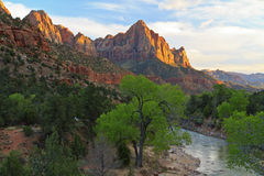 Sunset on The Watchman Royalty Free Stock Image