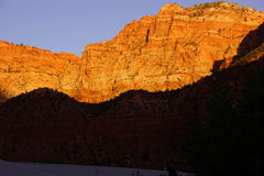 Sunset on The Watchman Royalty Free Stock Photography