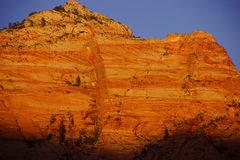 Sunset on The Watchman Royalty Free Stock Photos