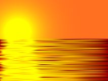 Sunset and water. Royalty Free Stock Photo