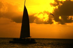 Sunset on water Stock Photos