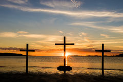 Sunset Water of Calvary Stock Photo