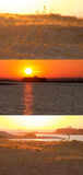Sunset on the water stock photography