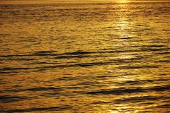 Sunset in water Royalty Free Stock Photo