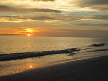 Sunset on the Water in Lido Beach,  Florida. Sunset in Lido Beach Floirda Stock Images