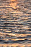 Sunset on the water. Photo of abstract background Stock Photo