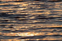 Sunset on the water. Photo of an abstract texture Royalty Free Stock Photography